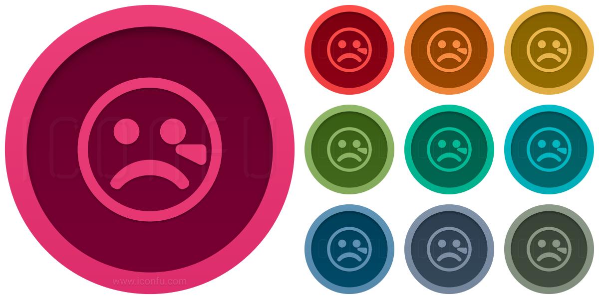 Emoticon Cry Icon