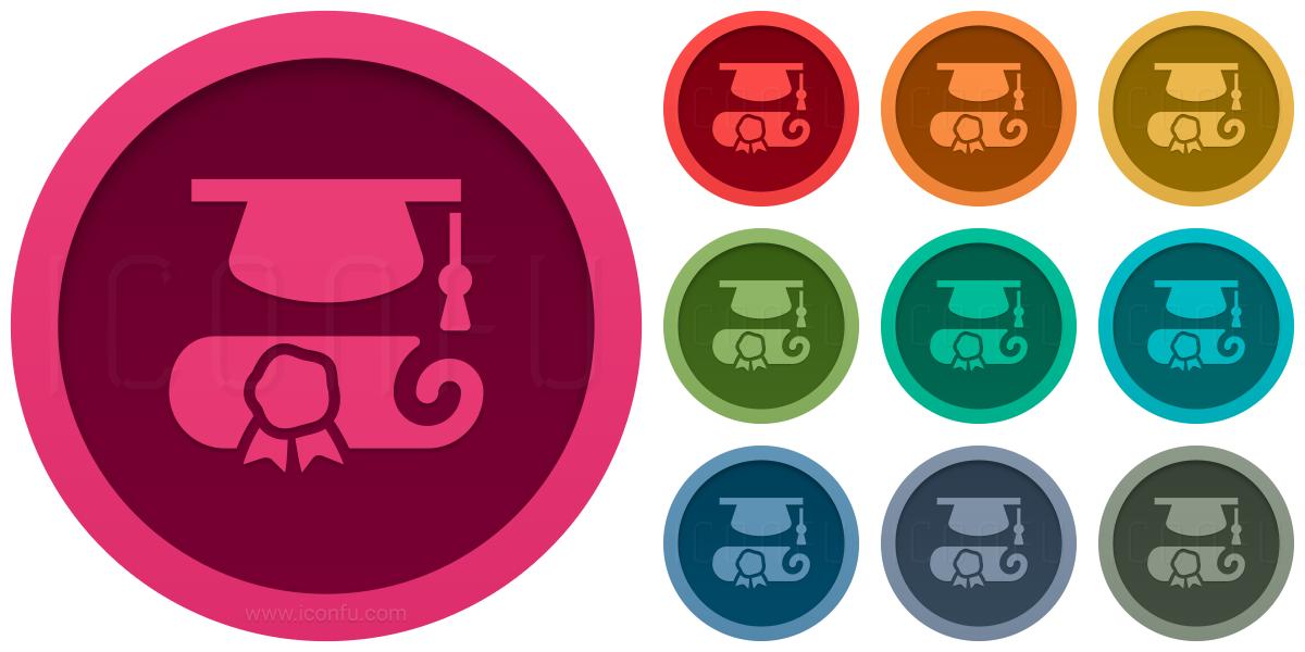 Graduation Hat Scroll Icon