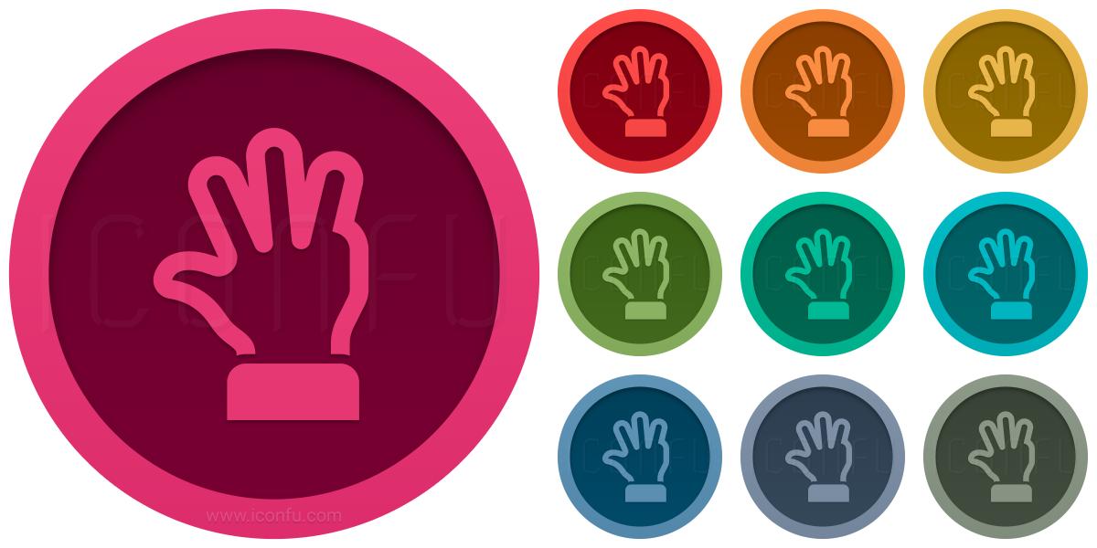 Hand Four Icon