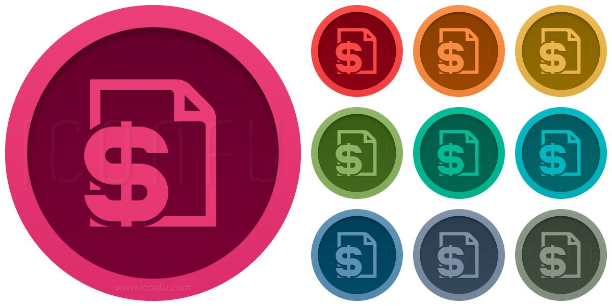 Invoice Dollar Icon