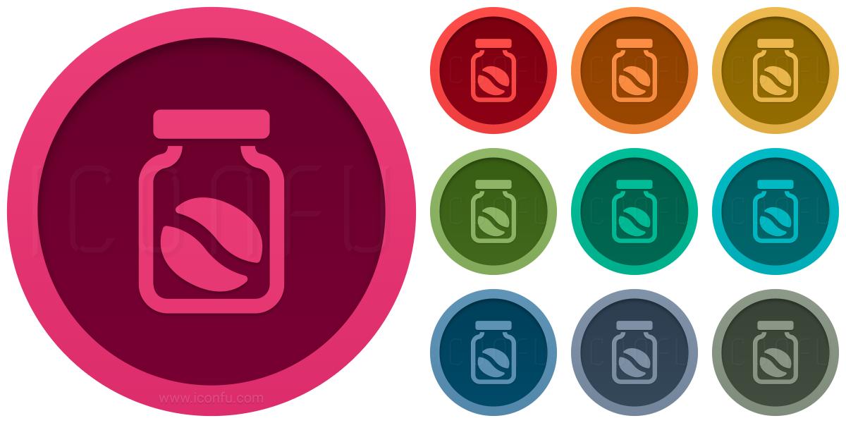 Jar Coffee Bean Icon