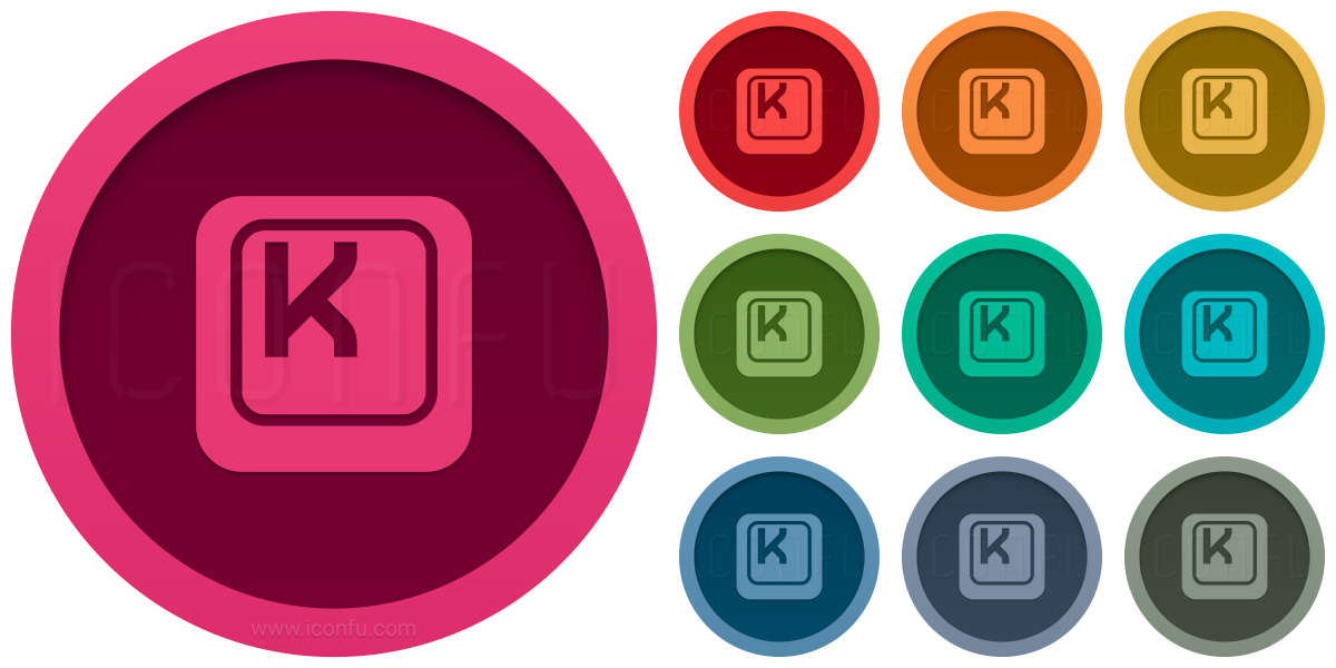 Keyboard Key K Icon