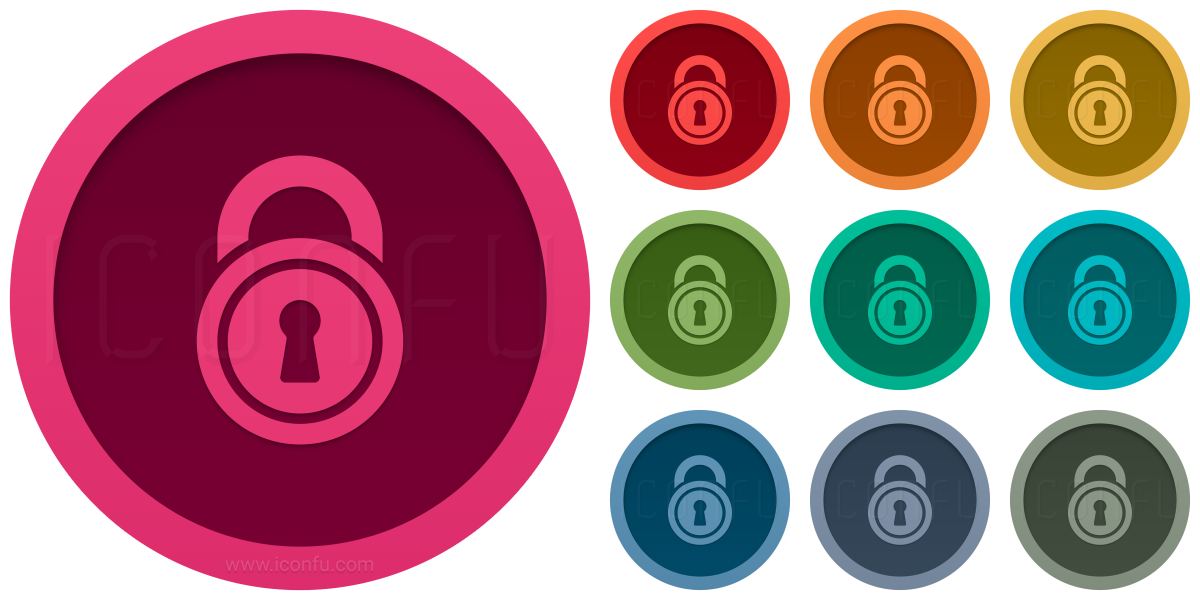 Lock Round Icon