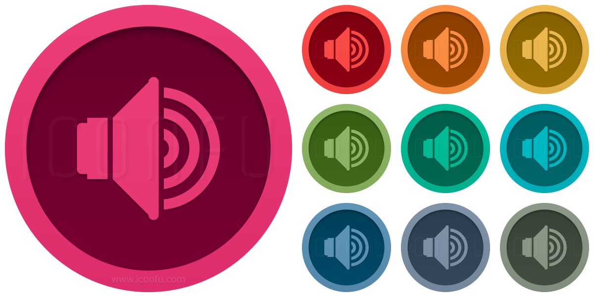 Loudspeaker Volume Four Icon