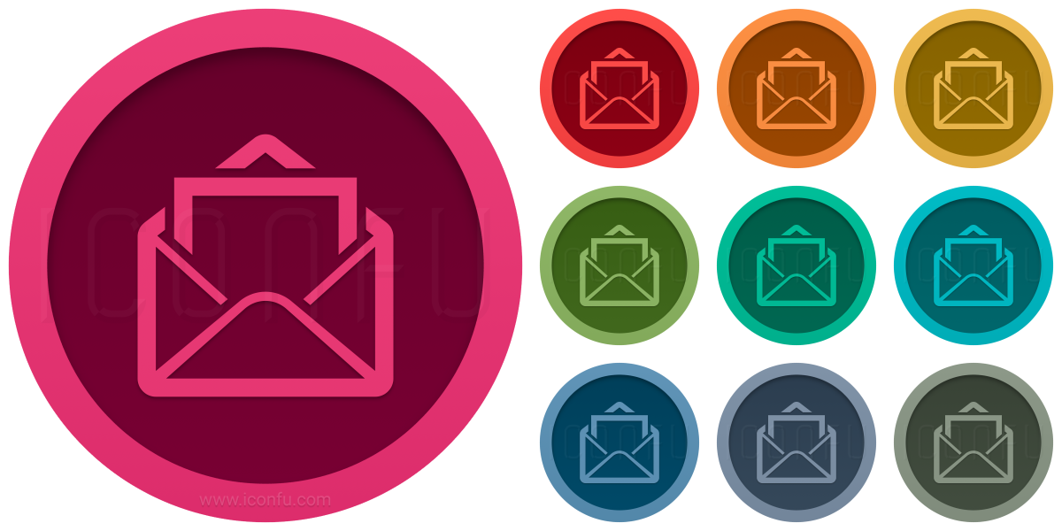 Mail Open Letter Icon