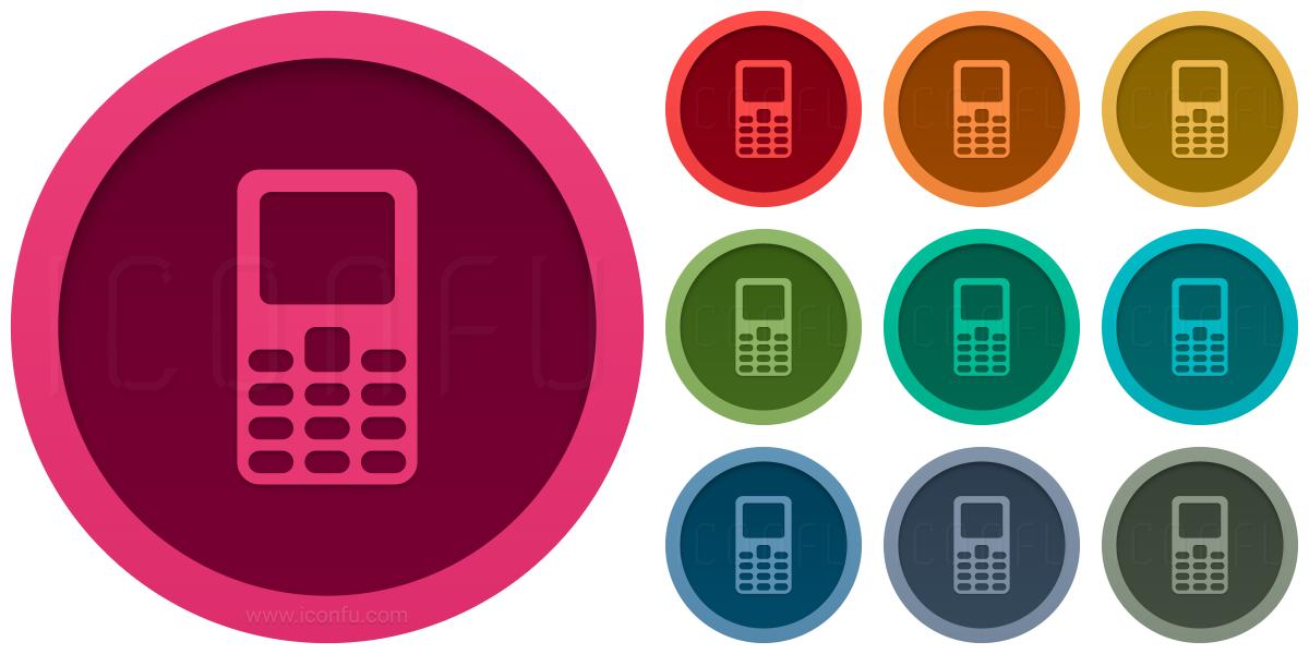 Mobile Phone Keys Icon