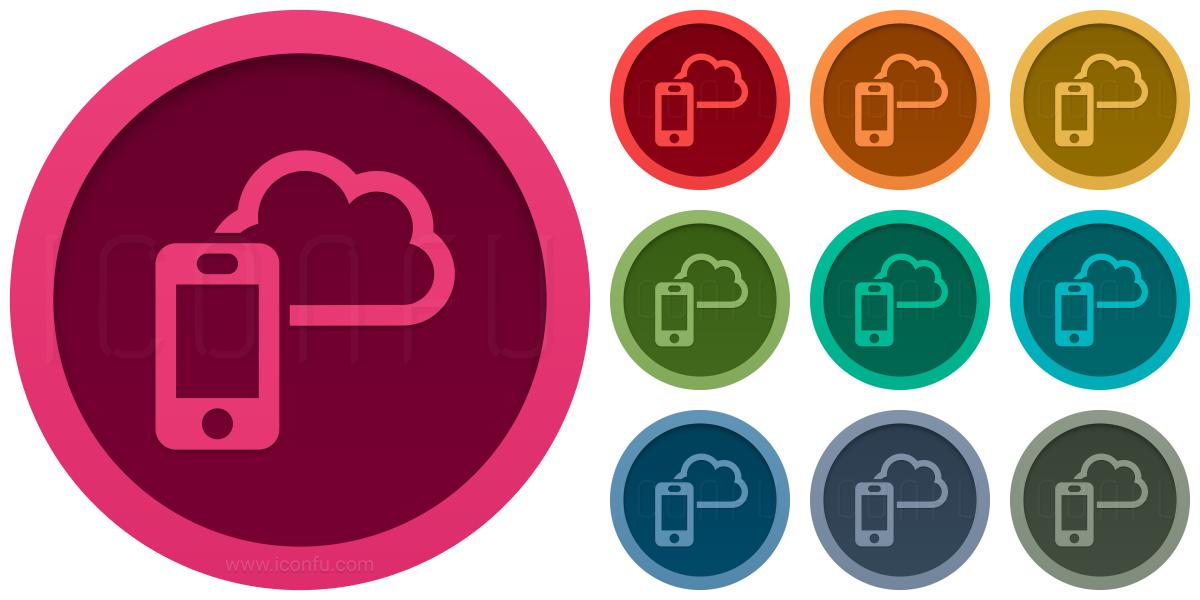 Smartphone Cloud Icon