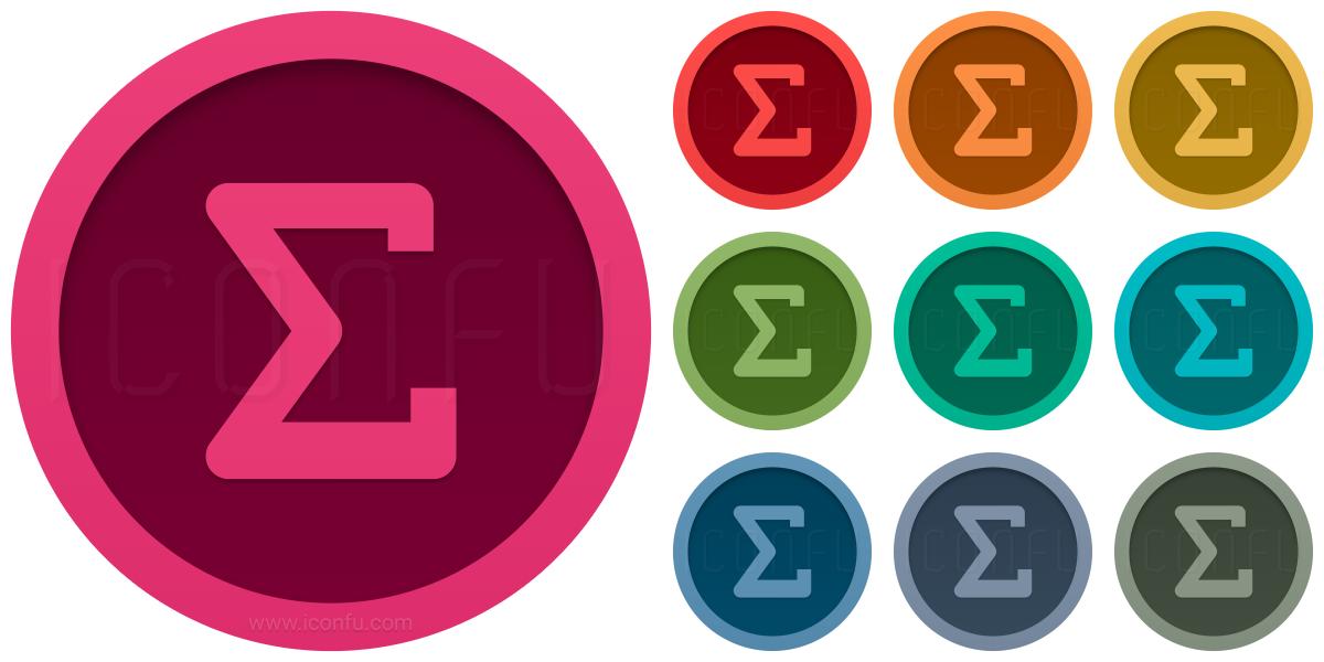 Symbol Sum Icon
