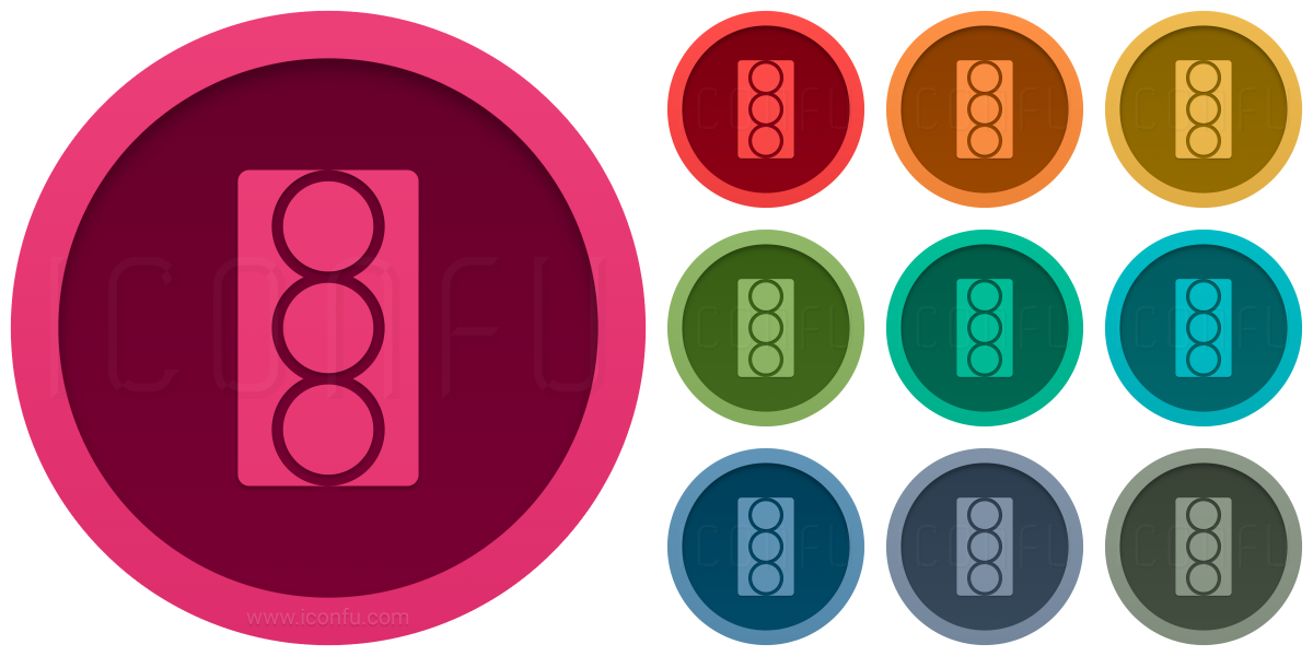 Trafficlight On Icon