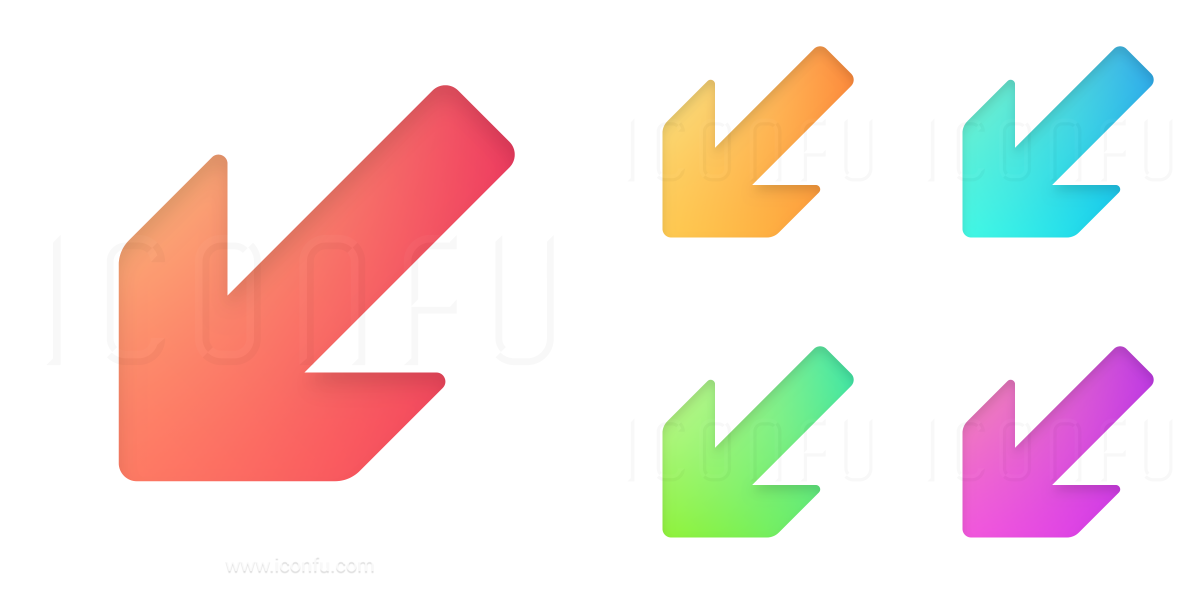 Arrow Down Left Icon
