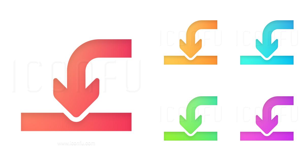 Arrow Into Icon