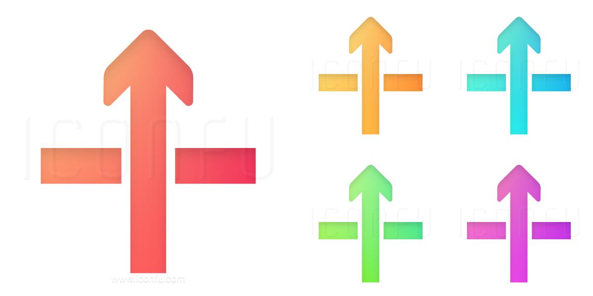 Arrow Through Icon