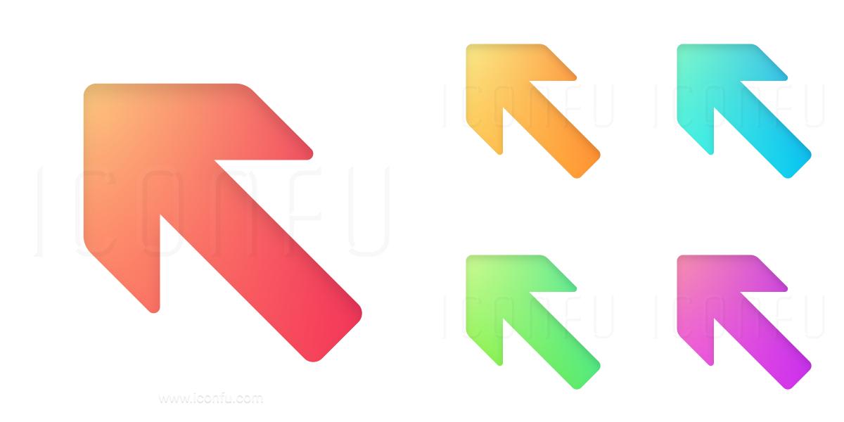 Arrow Up Left Icon