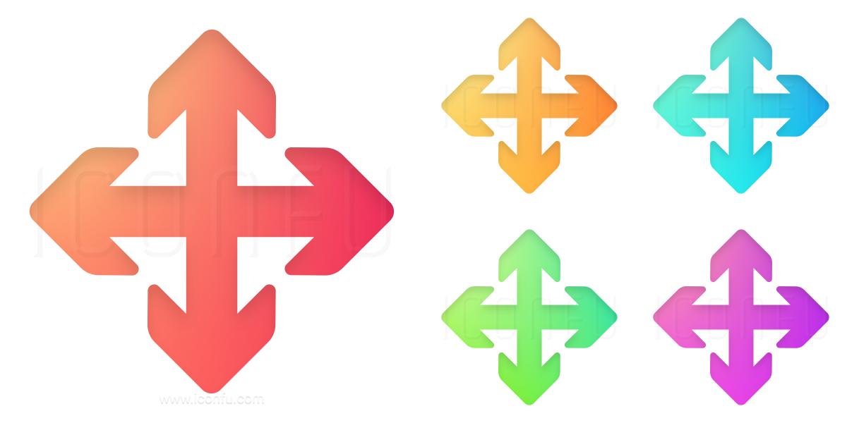 Arrows Cross Icon