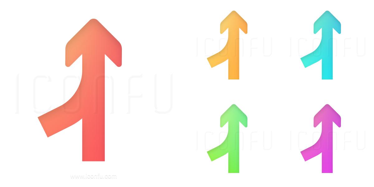Arrows Merge Into Icon