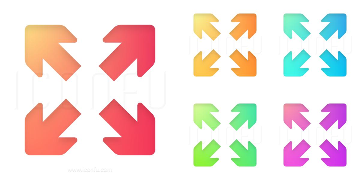 Arrows Spread Diagonal Icon