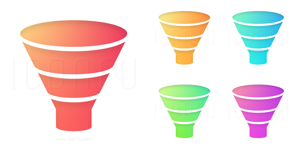 network diagram icon pack chart funnel icon - shiny style - iconfu funnel diagram icon #3