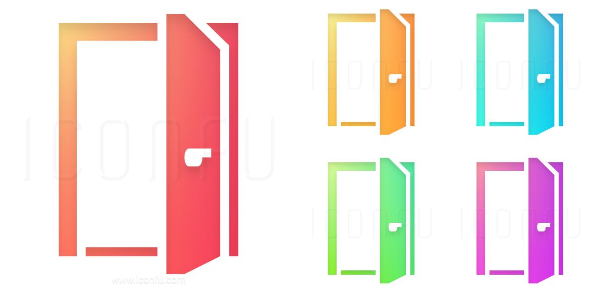 Door Open Icon keywords open entrance exit access door doorway egress enter  sc 1 st  Iconfu & Door Open Icon - Shiny Style - Iconfu