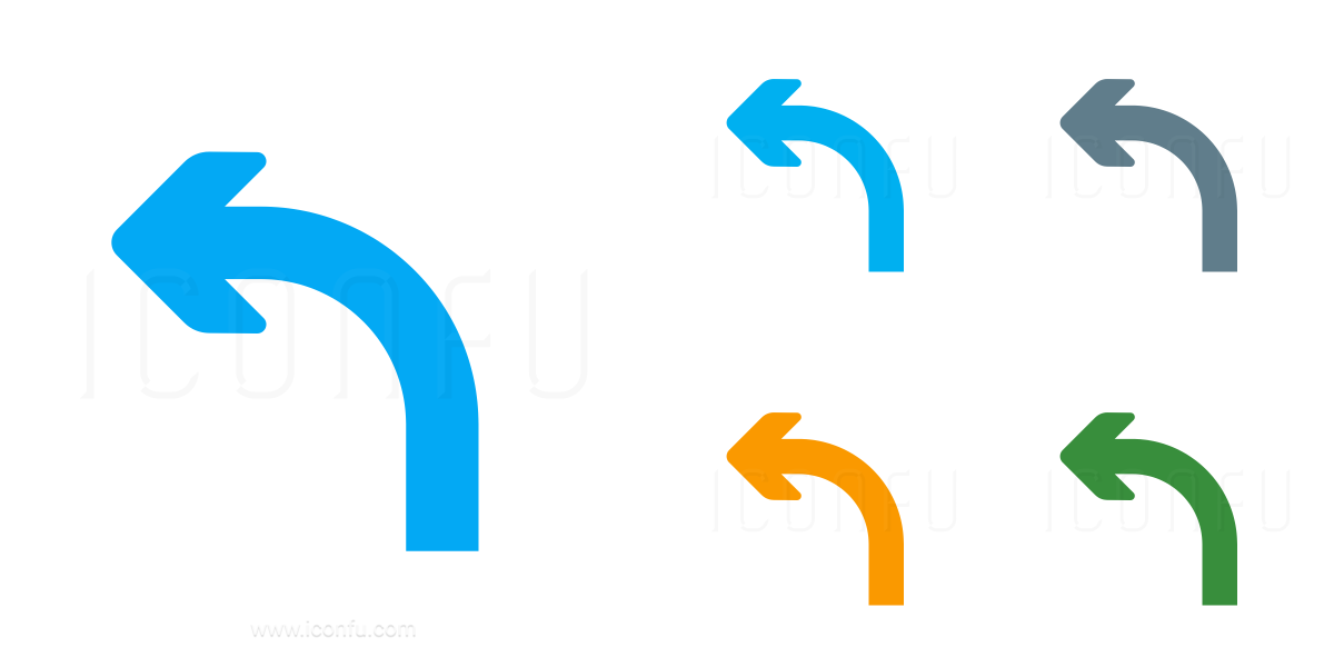 Arrow Curve Left Icon