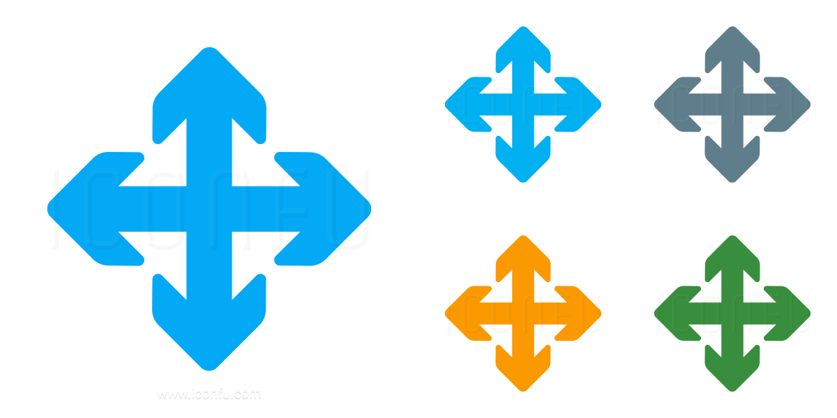 Arrows Cross Icon