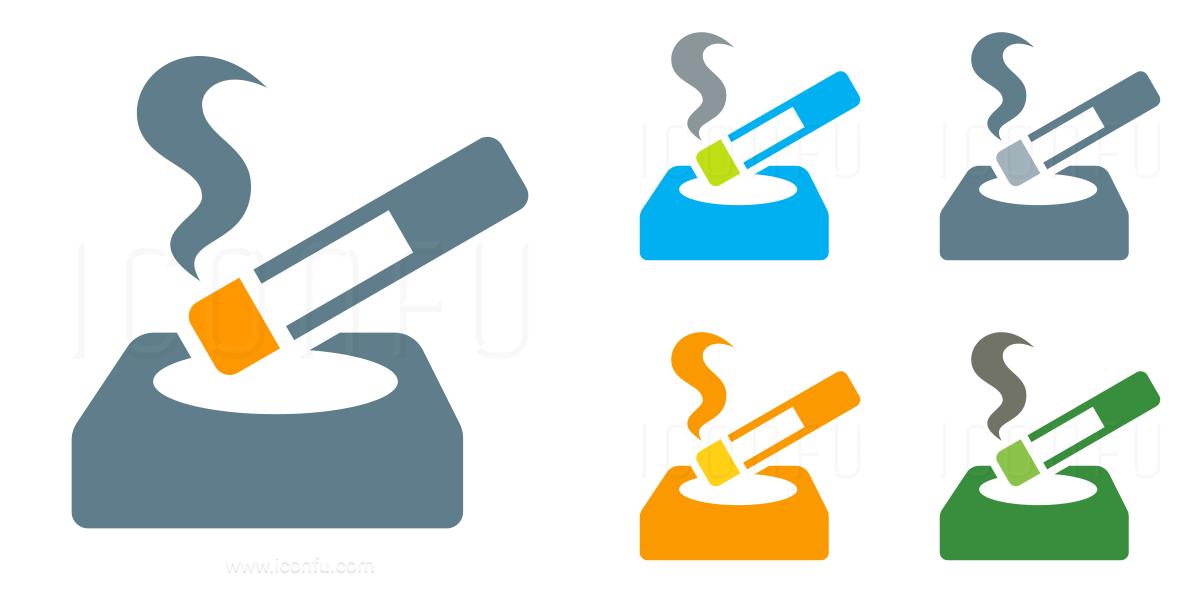 Ashtray Cigarette Icon