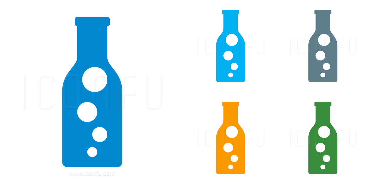 Bottle Bubbles Icon