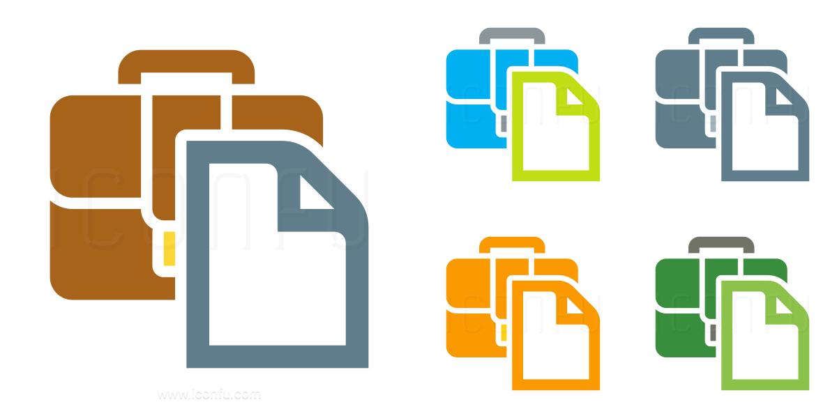 Briefcase Document Icon