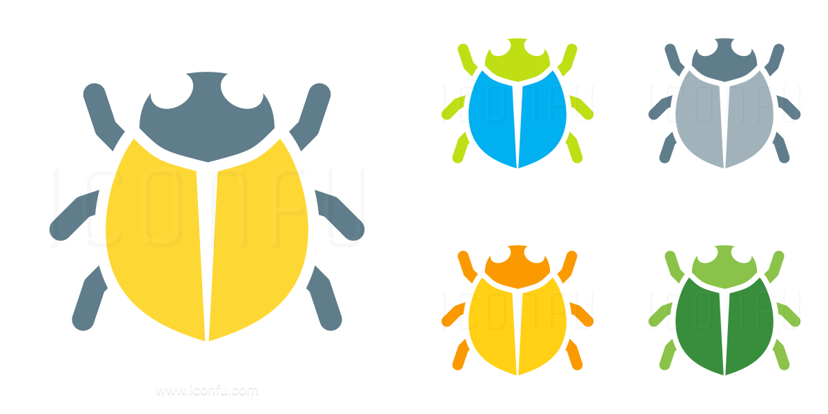 Bug Round Icon