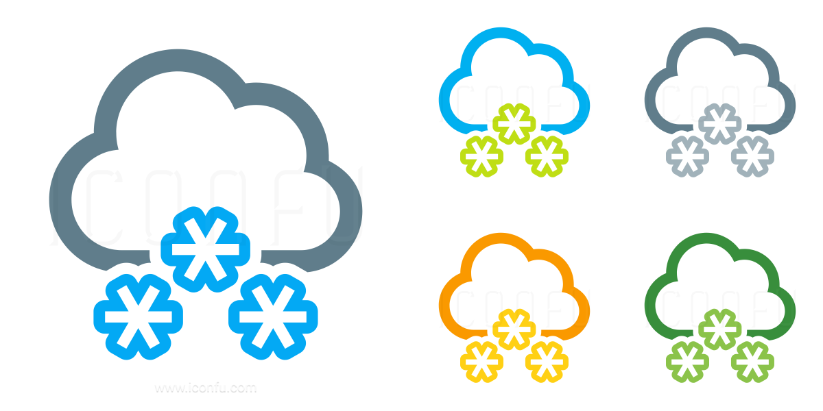 Cloud Snow Icon