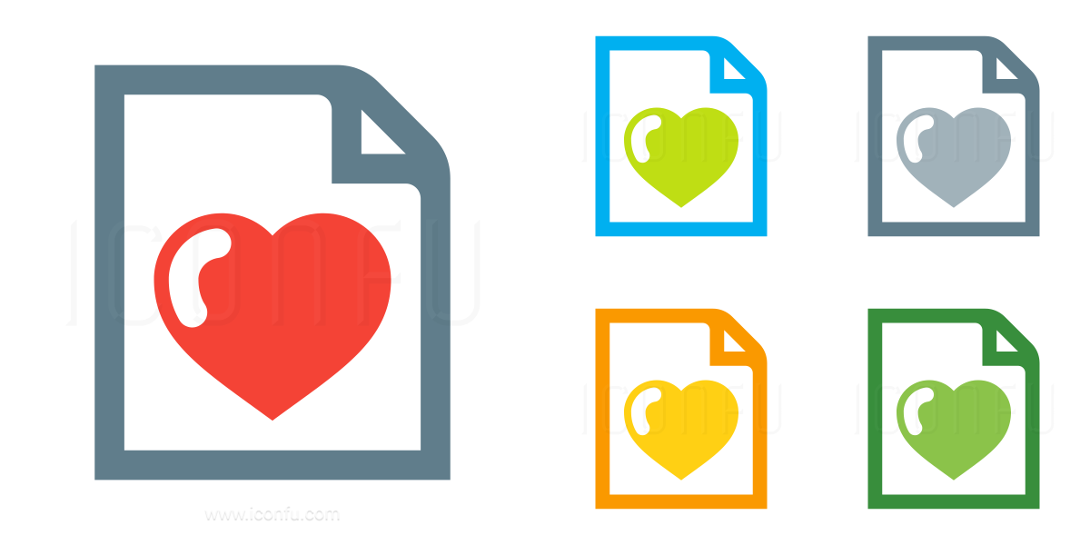 Document Heart Icon