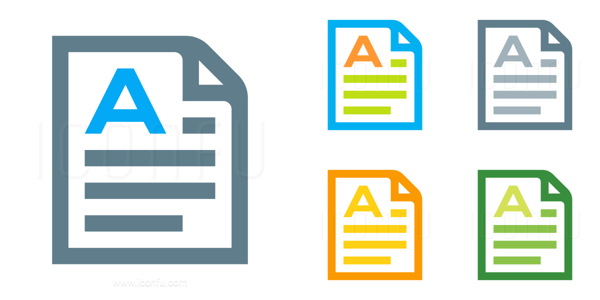 Document Orientation Portrait Icon