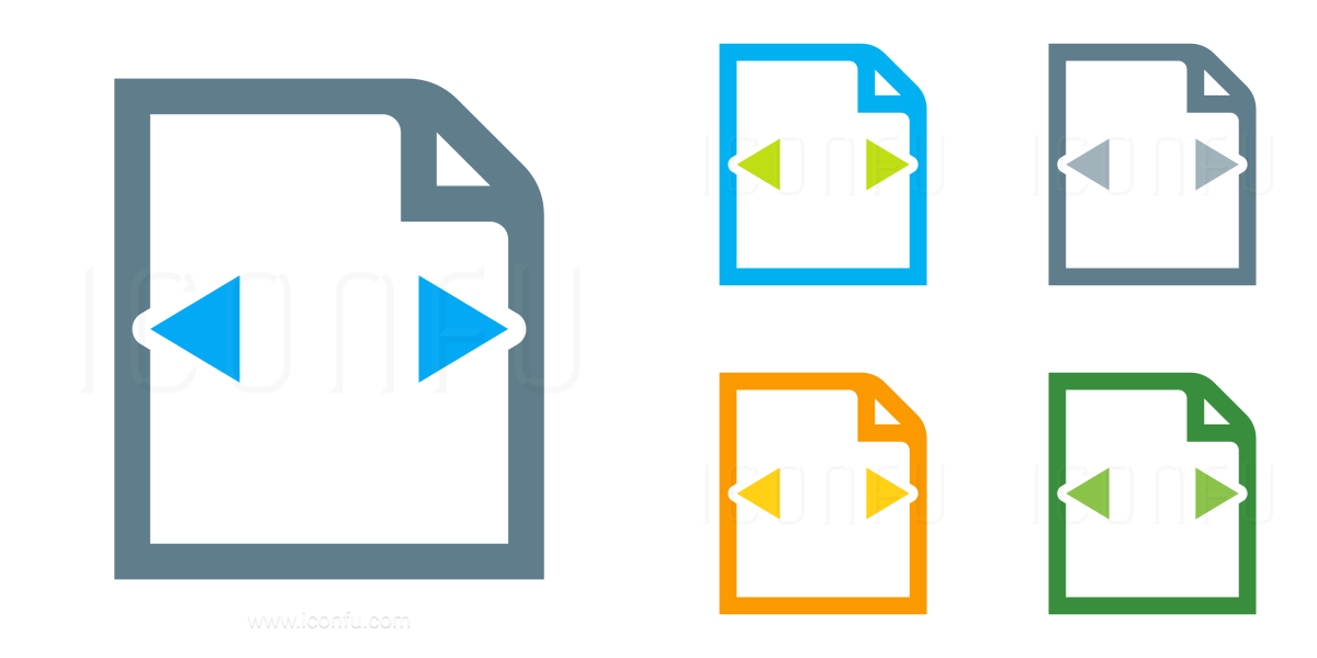 Document Width Icon