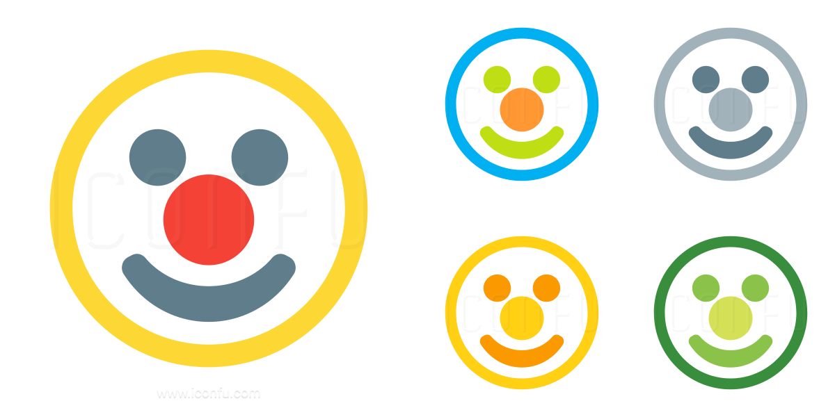 Emoticon Clown Icon