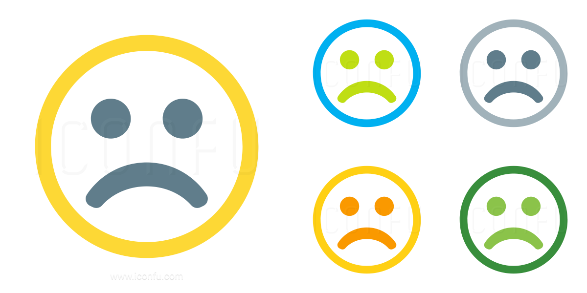 Emoticon Frown Icon