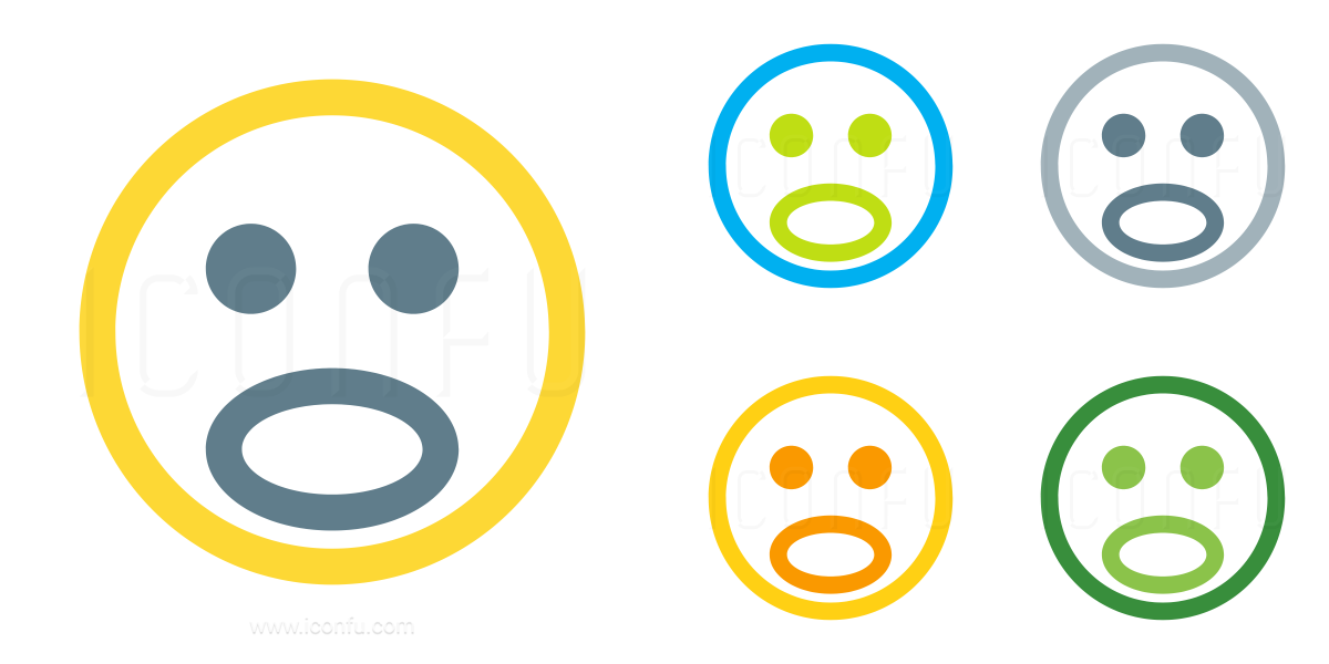 Emoticon Surprised Icon