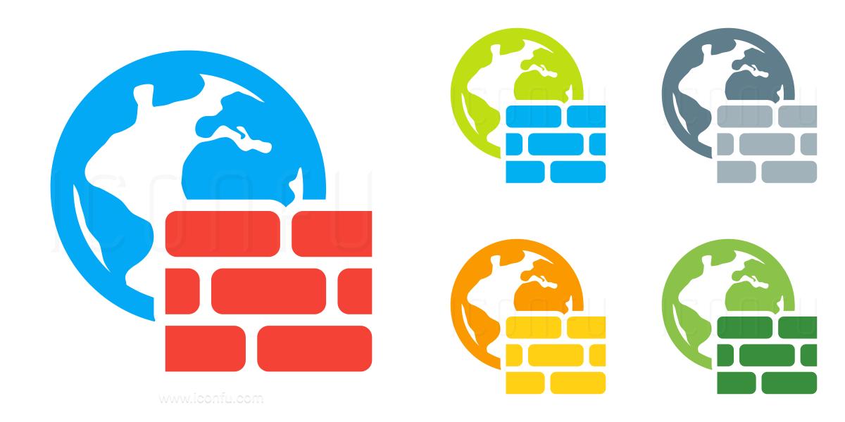 Firewall Earth Icon