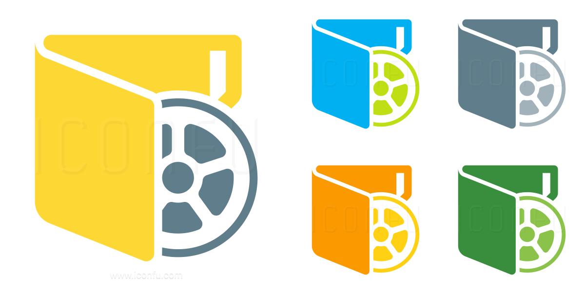 Folder Movie Vertical Icon