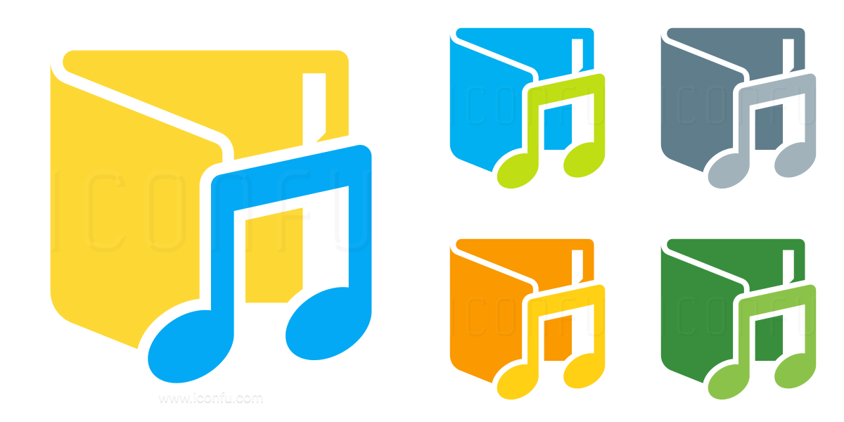 Folder Music Vertical Icon