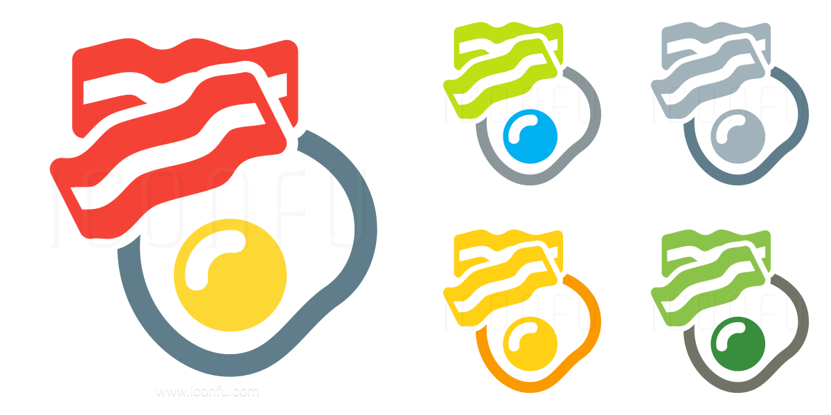Fried Egg Bacon Icon
