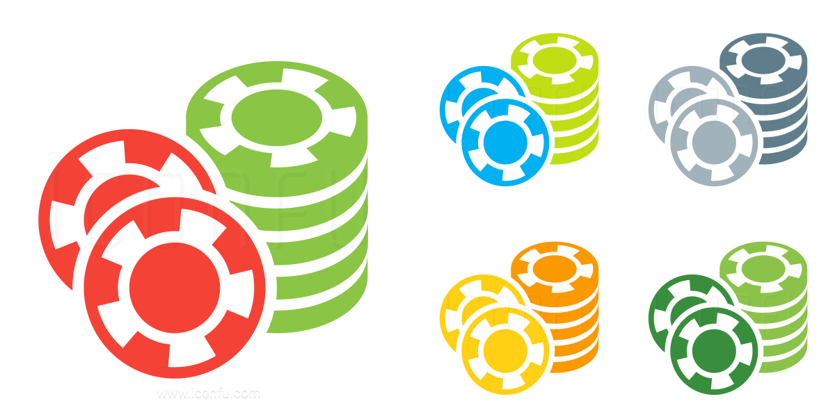 Gambling Chips Stacked Icon