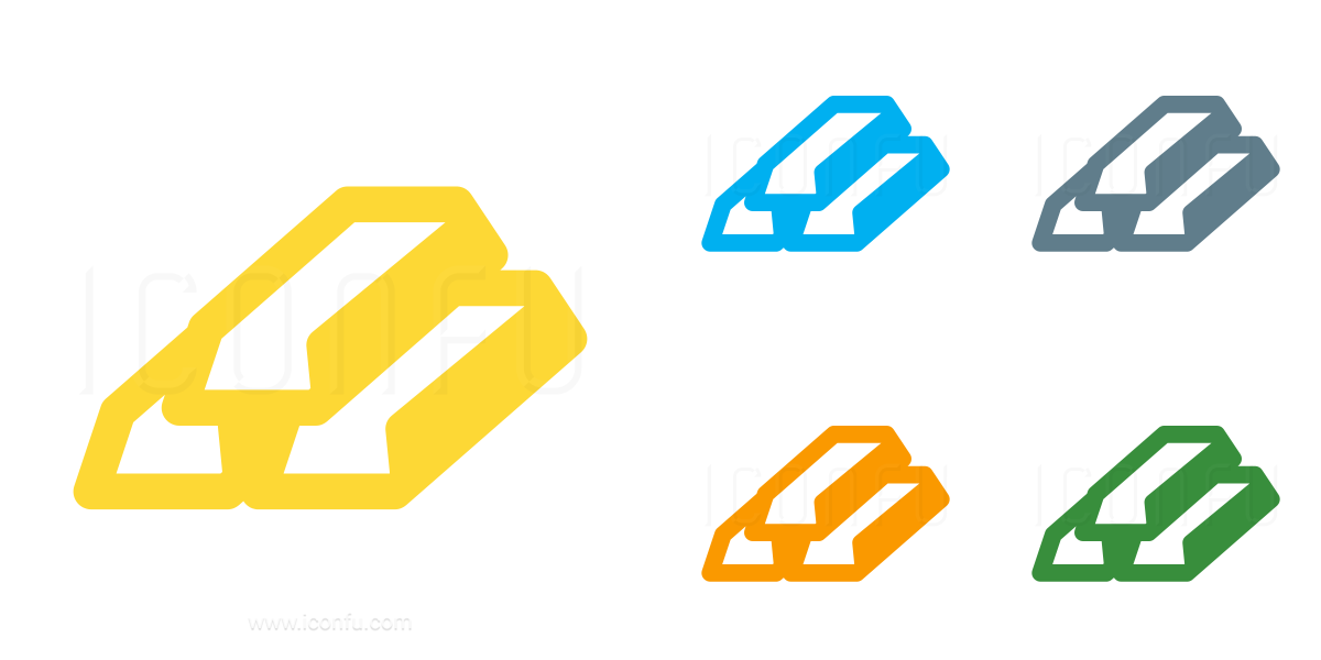 Gold Bars Icon