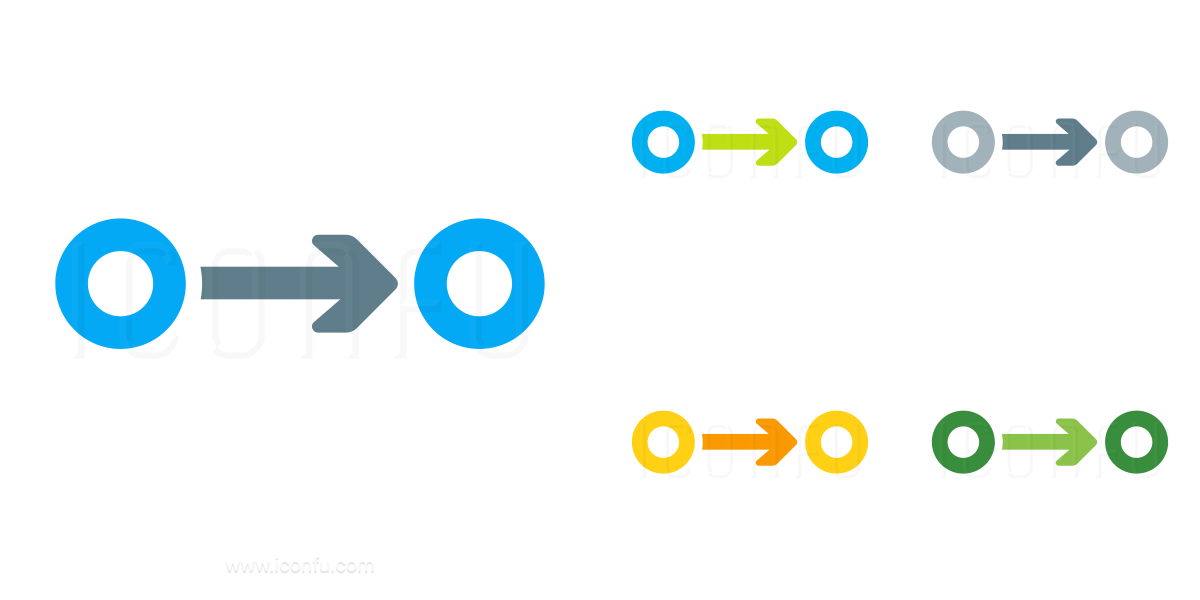 Graph Connection Directed Icon