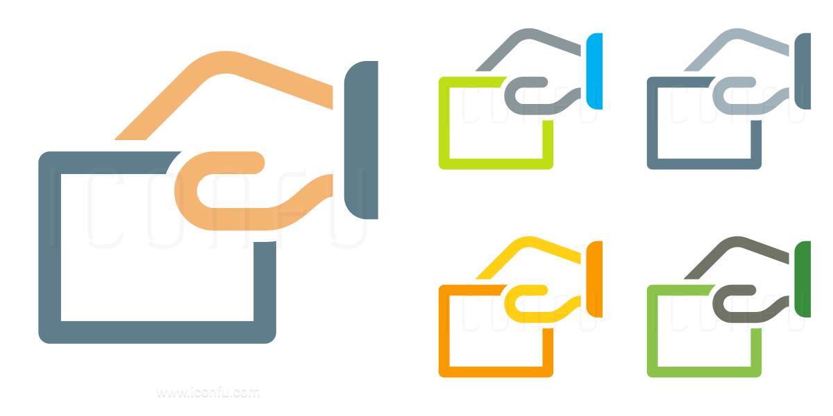 hand paper icon omni style iconfu