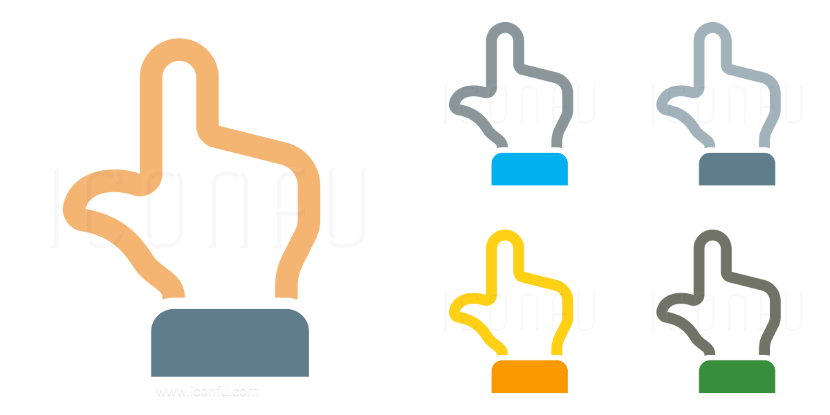 Hand Point Up Back Icon