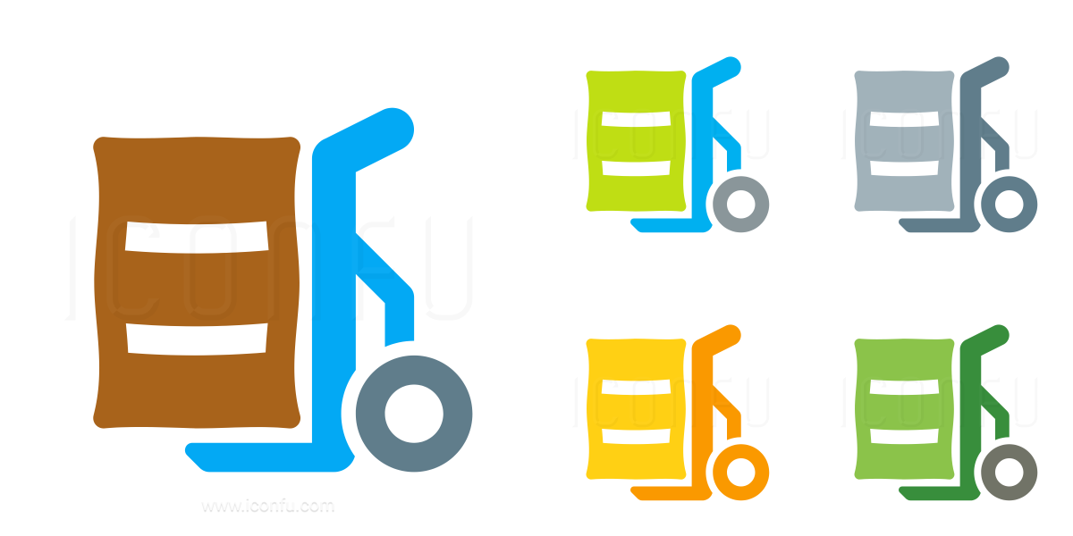 Hand Truck Bag Icon