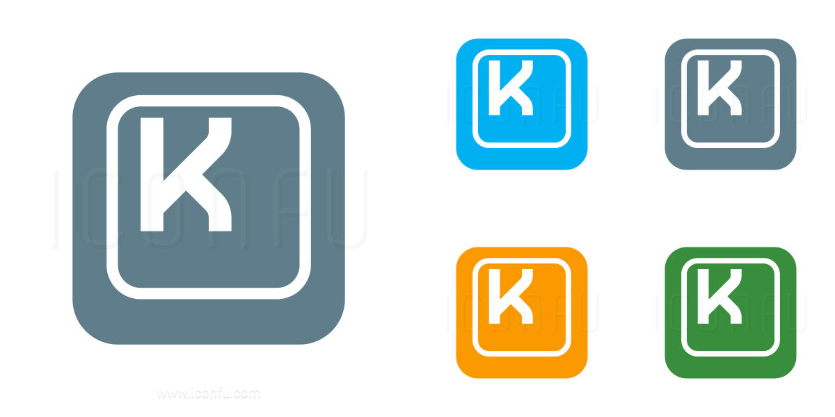 Keyboard Key K Icon