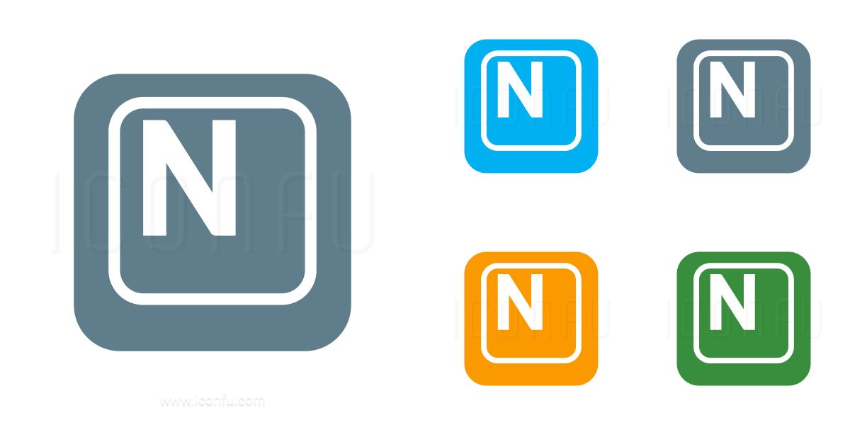 Keyboard Key N Icon