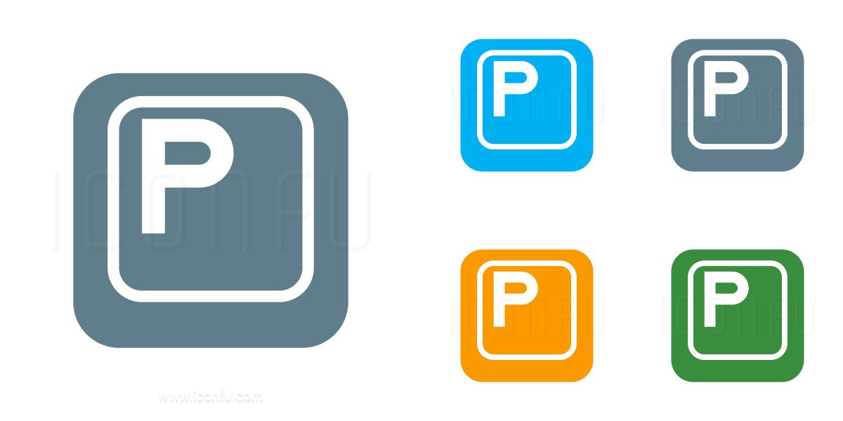 Keyboard Key P Icon
