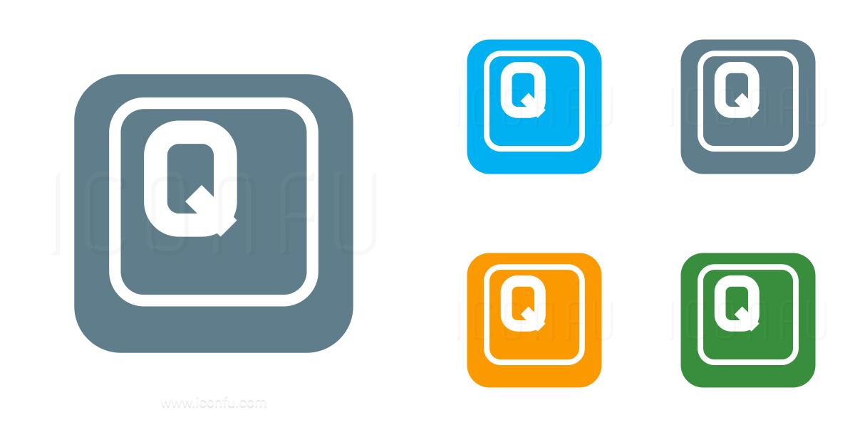 Keyboard Key Q Icon