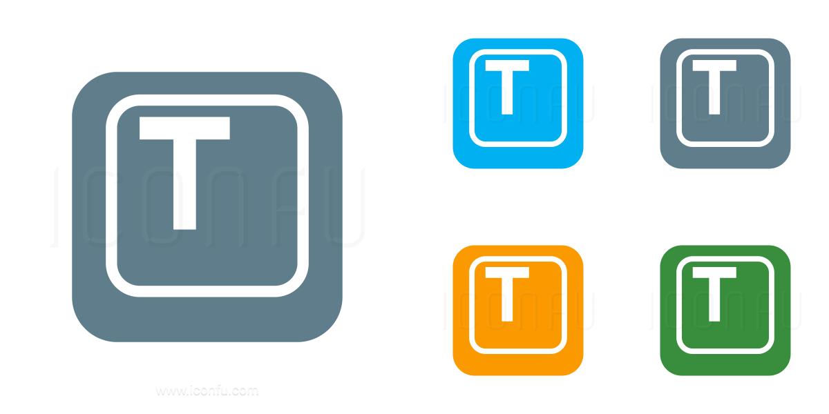 Keyboard Key T Icon